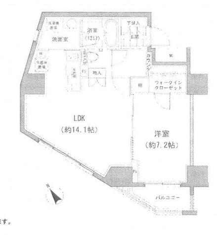 パークハビオ小石川富坂 / 1301 部屋画像1