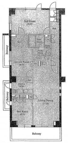 南麻布デュープレックスリズ / 2階 部屋画像1