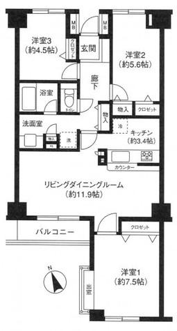 代々木カサグランデ / 503 部屋画像1