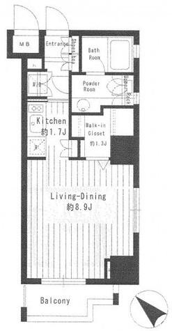 パークルージュ赤坂檜町 / 207 部屋画像1