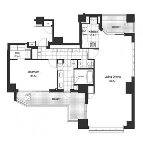 アパートメンツタワー六本木 / 1801 部屋画像1