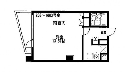 HF八丁堀レジデンスⅡ / 203 部屋画像1