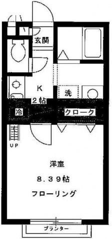 ※104号室は反転タイプ(8帖)になります。