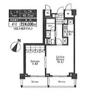 パークキューブ目黒タワー(旧アパートメンツタワー目黒) / 412 部屋画像1