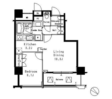 MFPR目黒タワー / 10階 部屋画像1