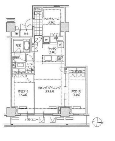 辰巳 11分マンション / 12階 部屋画像1