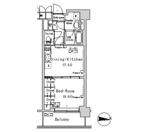 パークアクシス辰巳ステージ / 6階 部屋画像1