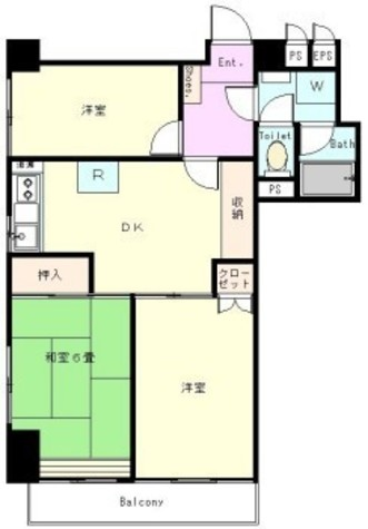 グリーンキャピタル広尾 / 3階 部屋画像1