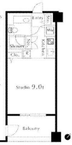 カスタリア水天宮(旧ニューシティレジデンス日本橋イースト) / 8階 部屋画像1