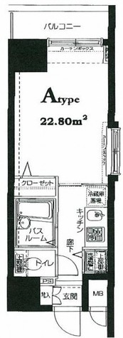 HF東神田レジデンス(旧エルミタージュ東神田) / 12階 部屋画像1