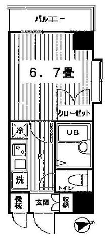 コンフォリア芝浦キャナル(旧チェスターハウス芝浦) / 809 部屋画像1