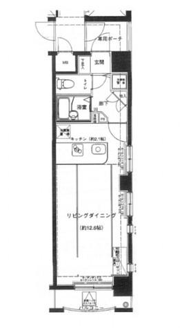 根津 1分マンション / 8階 部屋画像10