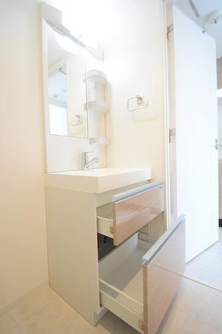 収納豊富の洗面台