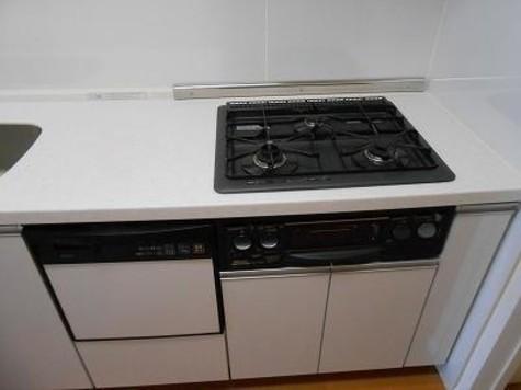 3口ガスキッチン、食洗機