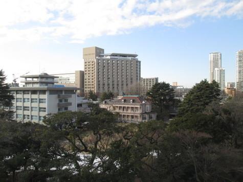 旧岩崎邸が見えます