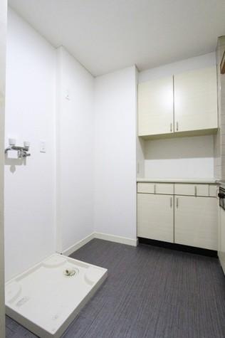 キッチン背面・洗濯機置場