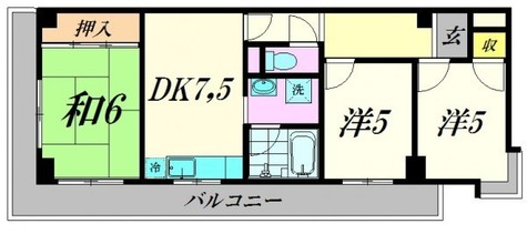 メゾンシャルム / 301 部屋画像2