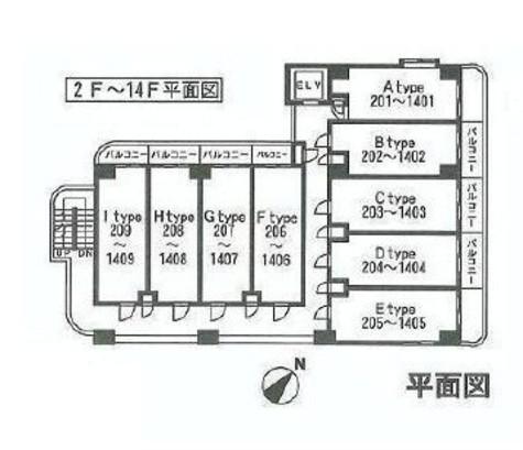HF関内レジデンス / 4階 部屋画像2