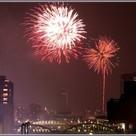 屋上から隅田川花火大会