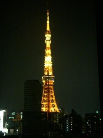 リビングから、夜のタワーもまた格別