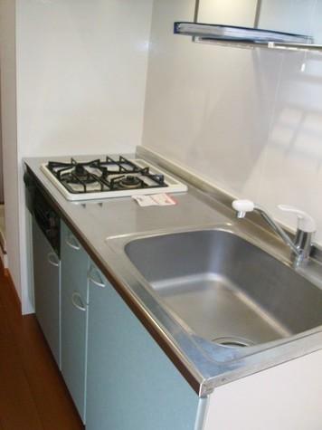 システムキッチン(ガスコンロ2口)