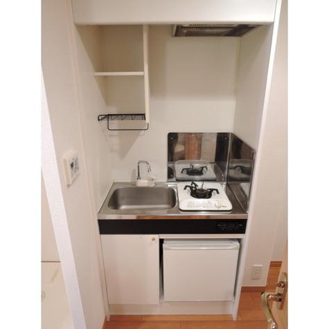 1口ガスコンロ・ミニ冷蔵庫
