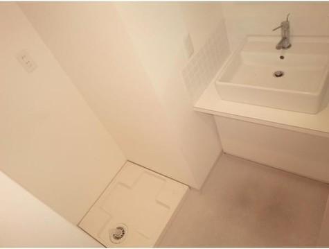 独立洗面台と室内洗濯機置場参…