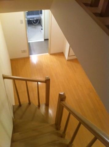 階段部分の占有面積に入ります