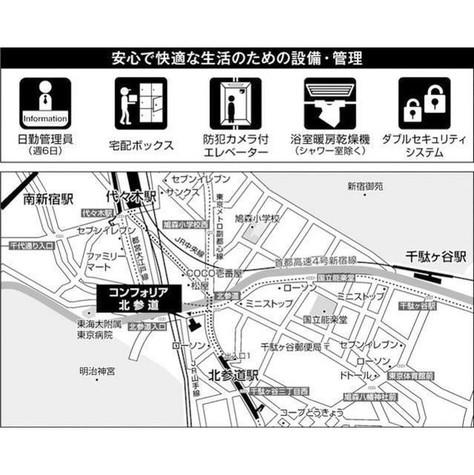 コンフォリア北参道(旧ヴェールヴァリエ北参道) / 10階 部屋画像6