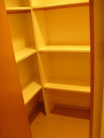 玄関の納戸。トランクルーム代わりや、シューズインクローゼットとしても使えます。