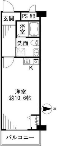 藤和新宿番衆町コープ / 8階 部屋画像8