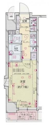 パレステュディオ御茶ノ水湯島駅前 / 6階 部屋画像9