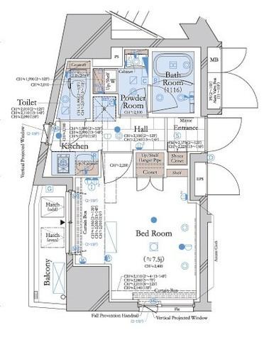 コンシェリア新宿御苑 CROSSIA / 12階 部屋画像9