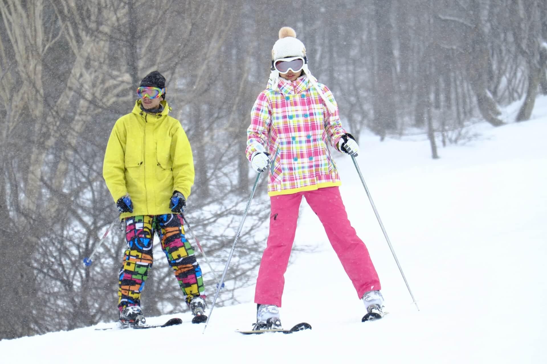 スキーの滑り方 初心者編