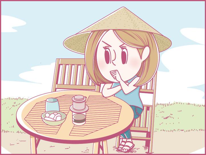ホーチミンにハマり中!ももの旅行日記【 第9話 / 連載4コマ漫画 】