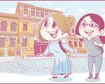 ももの女子旅日記:サイゴンの風を切る!アオザイを着てバイクツアーに参加!【第23話 / 連載4コマ漫画 】