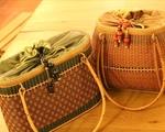 たんぽぽ 竹で編んだバッグ