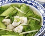 ギースアン 豚挽肉入りカラシ菜スープ