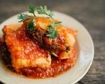 シークレットガーデン トマトソースと豆腐の肉詰め