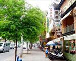 フジ フットマッサージ&スパサイゴン 時期に日本語看板を掲げる店がちらほら見えてきます。ここ一帯は日本人街となっています