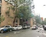 イマイ・アミ・スパ 左折するとシェラトンホテルが見えます。シェラトンホテルを左手にドンユー(Dong Du)通りを進みます。