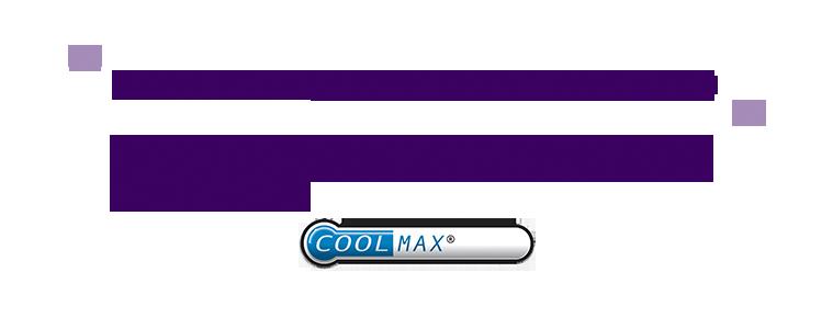 抜群のストレッチ性とCOOL MAX(吸水速乾) 機能ストレッチ糸を配合し、抜群のストレッチ性と汗を素早く吸ってすぐに乾く吸水速乾を両立。皺にもなりにくく軽やかな着心地を実感できるオリジナルファブリック。 COOLMAX®