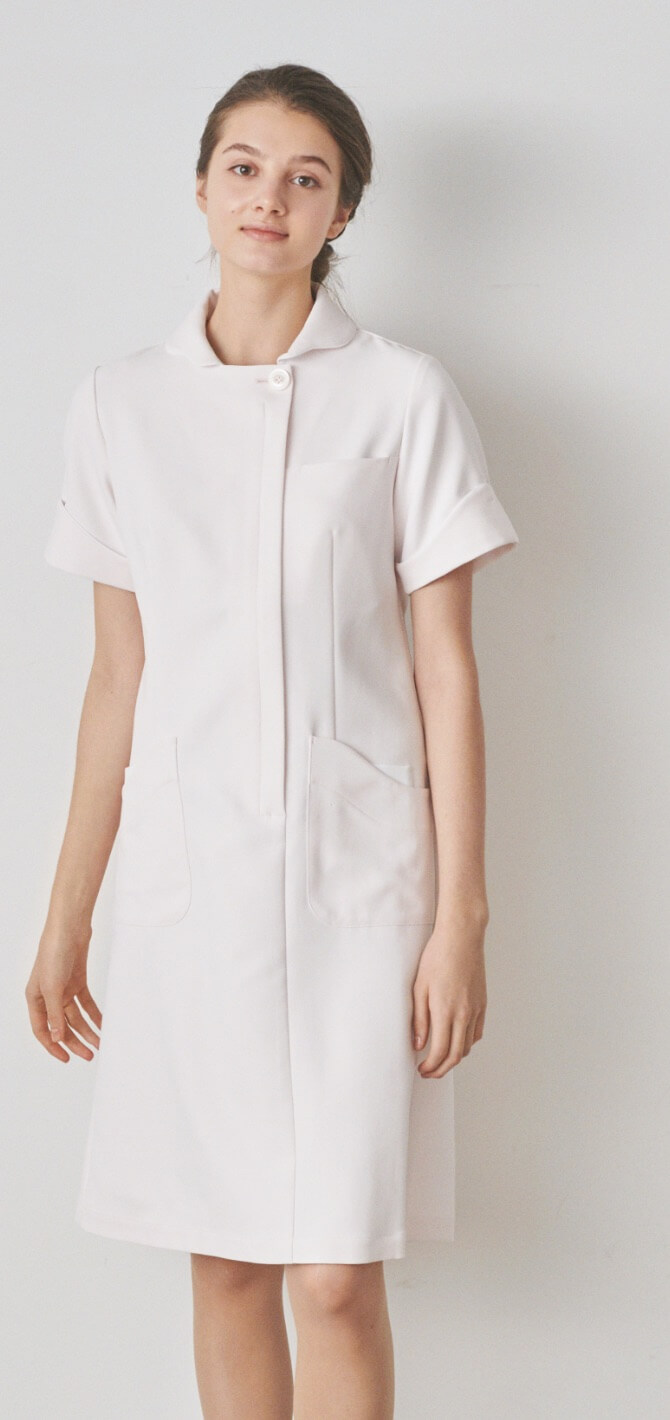 Curved sleeve one-piece
