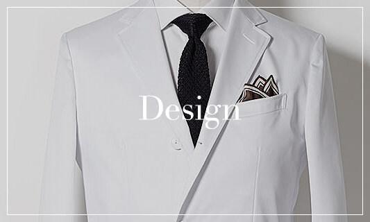 Design テーラードの技術を用いたスタイリッシュなデザイン わたしたちの服作りは「美しく動きやすい洋服」。銀座のイタリアサルトで師事したテーラードをベースに着ていることの心地良さを追求し、ベーシックでありながら、さりげないアクセントを基調としたスタイリッシュなデザインはクラシコ白衣の真髄です。