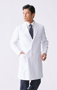 メンズ白衣:二重織りチェスターコート