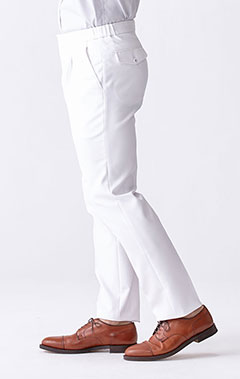 メンズ白衣:二重織りイージースラックス