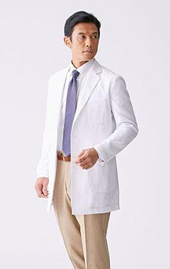 メンズ白衣:ライトショートコート