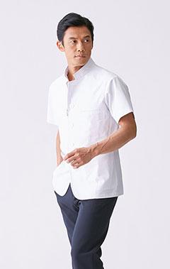 メンズ白衣:ジップアップケーシー