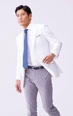 メンズ白衣:テーラードジャケット・クールテック