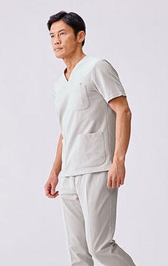 メンズ手術衣:スクラブトップス・クールテック